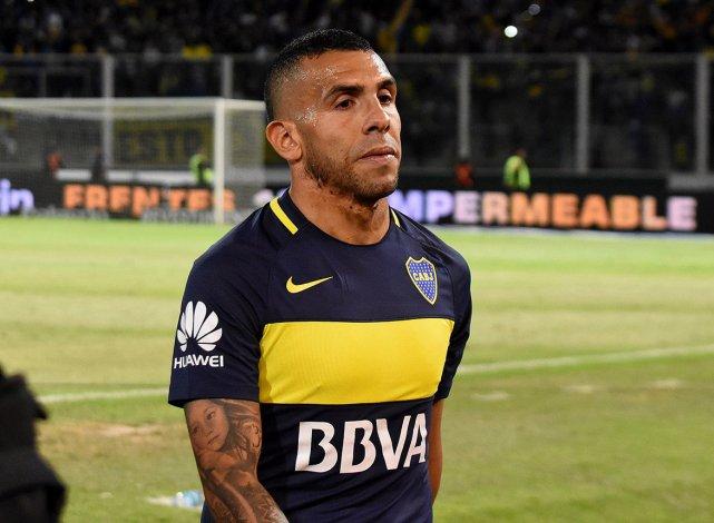 La cara de Carlos Tevez luego de la eliminación de Boca la noche del miércoles ante Rosario Central en la Copa Argentina.