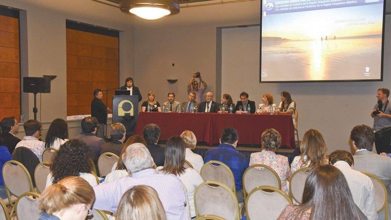 La ceremonia inaugural de las Jornadas de la Sociedad Argentina de Pediatría.