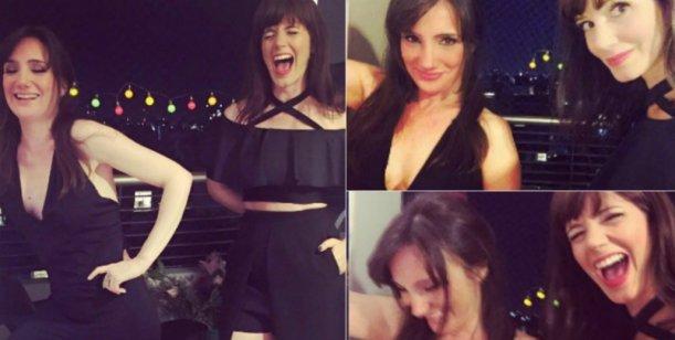La noche de soltera de Griselda Siciliani y su amiga Jorgelina Aruzzi