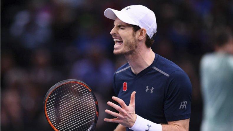 Andy Murray festeja con el alma y vida su llegada a lo más alto del ránking de la ATP.