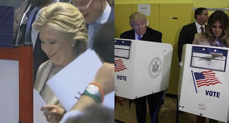 Hillary fue la primera en votar
