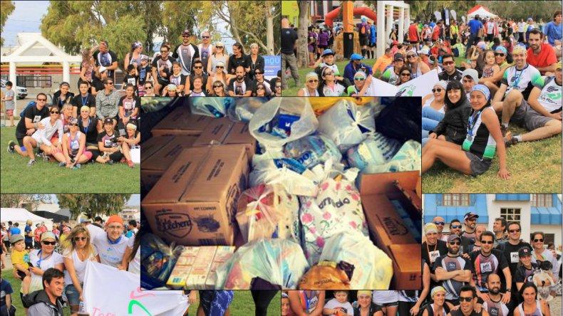 Carrera solidaria: juntaron más de 6 mil litros de leche para merenderos de Comodoro