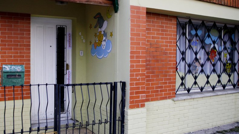 Clausura de Jardín Maternal en Río Gallegos por la muerte de una beba. Foto: Télam.