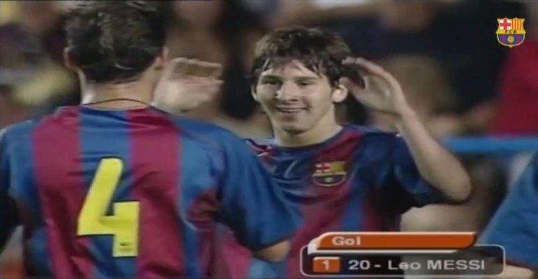 Barcelona publicó el verdadero primer gol de Messi