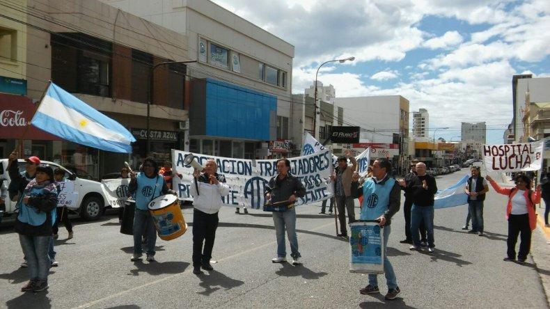 Trabajadores de ATE se movilizan por el centro