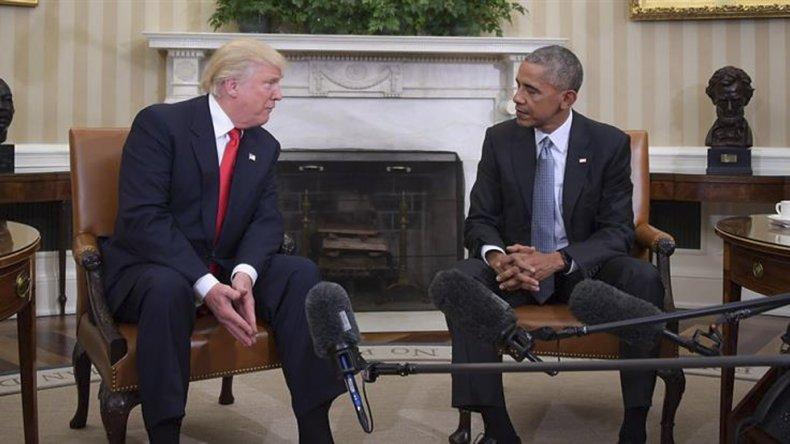 Trump se reunió en la Casa Blanca con el mandatario Barack Obama.