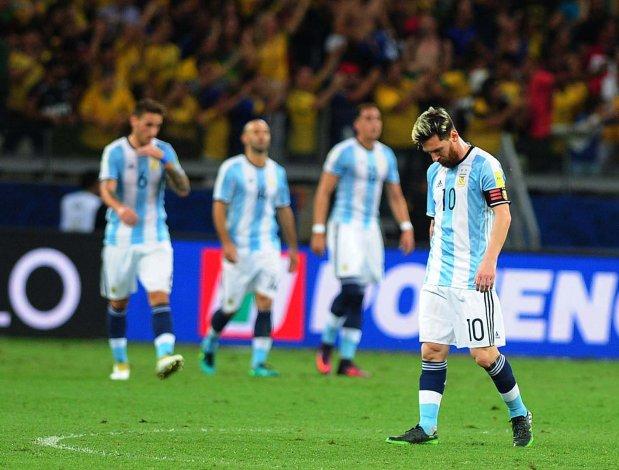 Toda la decepción de Leo Messi y compañía ayer en Belo Horizonte.