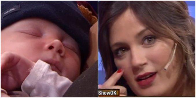 Paula Chaves volvió a la televisión junto a su hijo Baltazar