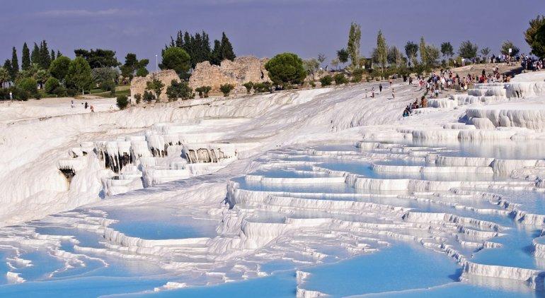 Castillo de algodón, una de las maravillas de la naturaleza