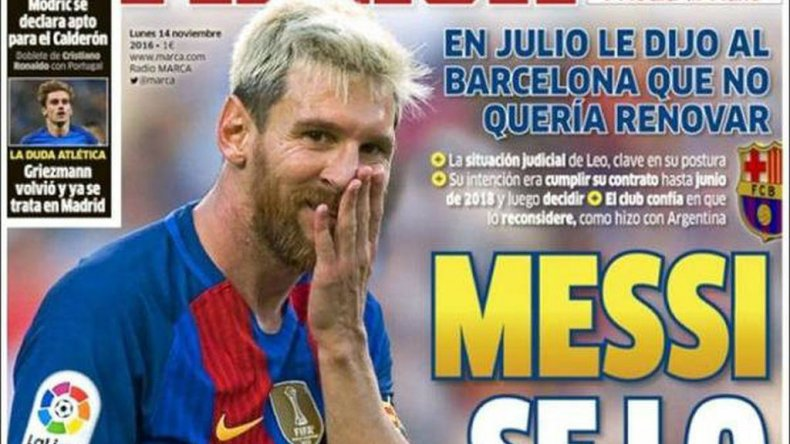 ¿Messi se va del Barcelona?