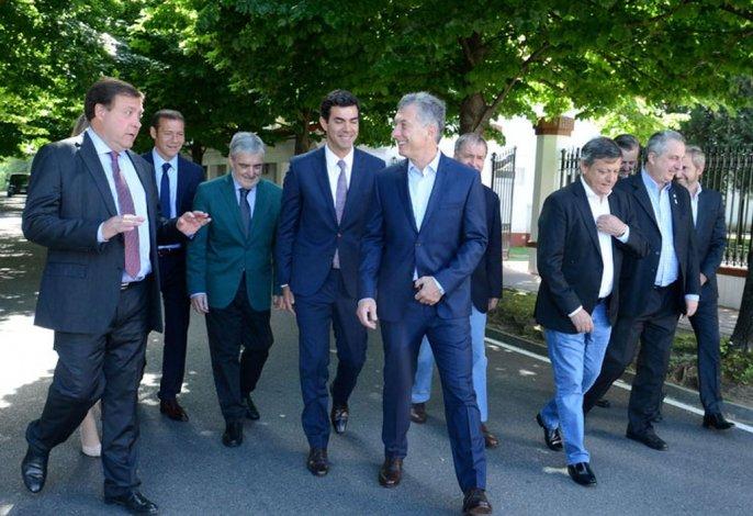 El presidente Mauricio Macri esta mañana en la residencia de Olivos