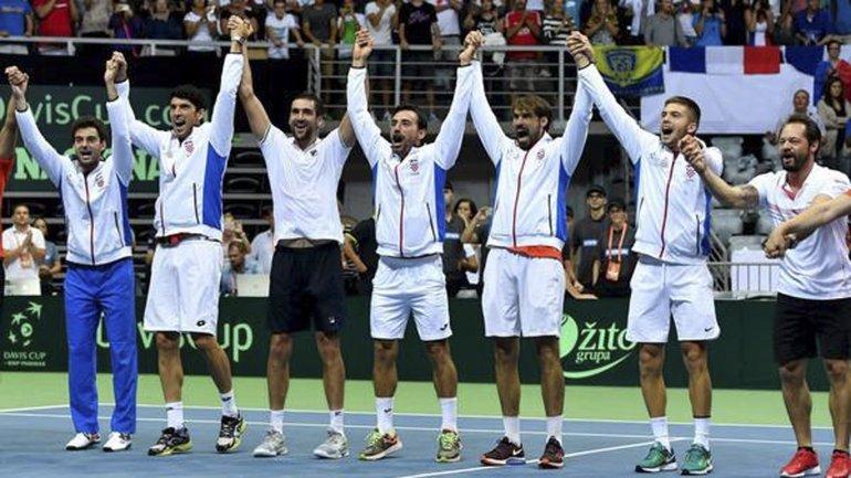 Croacia confirmó ayer su equipo para recibir la próxima semana a la Argentina para jugar la final de la Copa Davis.
