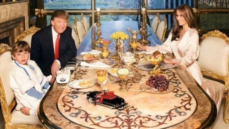 ¿Por qué se hizo viral la foto de Donald Trump con su familia?