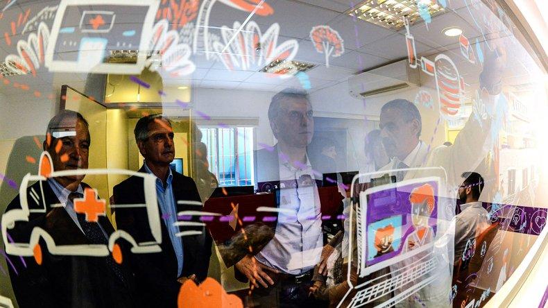 Macri en la presentación del Programa Nacional de Telesalud Pediátrica en el Hospital Garrahan.