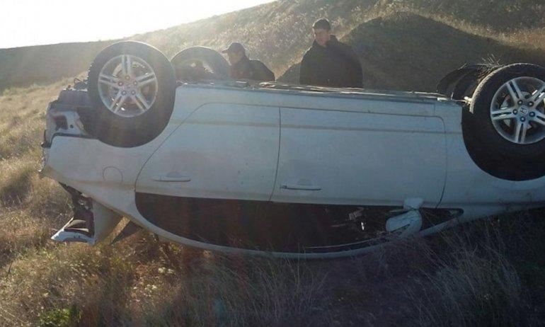 Despistó y volcó en Ruta 3: el conductor salió ileso