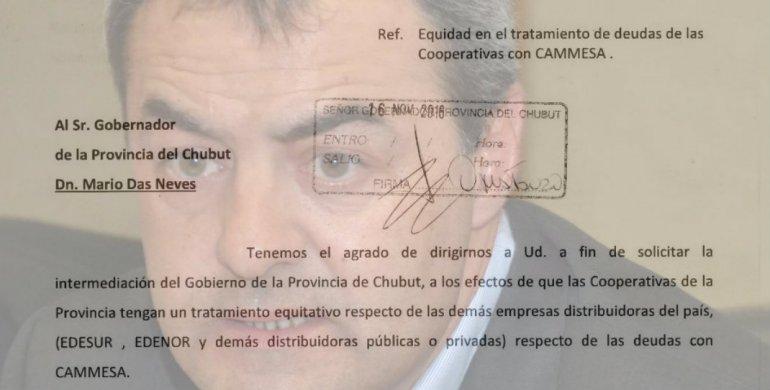 Las cooperativas de Chubut piden un tratamiento equitativo sobre las deudas con Cammesa