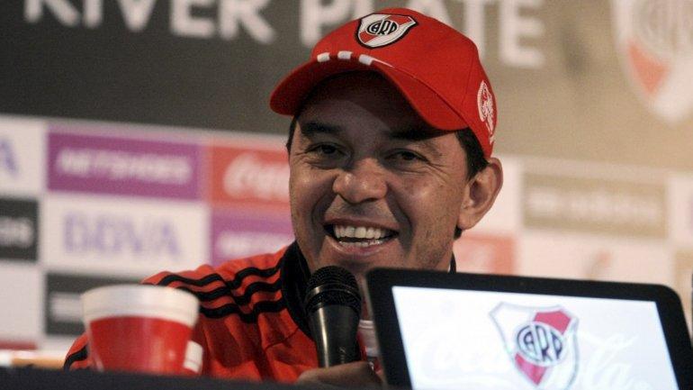 Marcelo Gallardo todavía no tiene definido el equipo de River que visitará mañana a Newells.