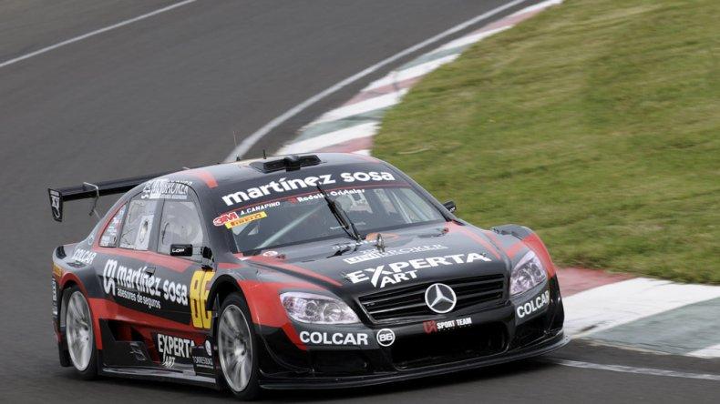 El Mercedes de Agustín Canapino quer ayer dominó la clasificación de la Top Race V6.