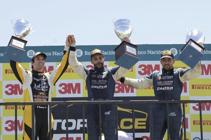 El podio del TR Series liderado por Lucas Valle