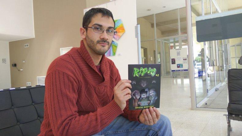 Emiliano Gunckel presenta el segundo número de la historieta Ripio. El viernes 2 de diciembre estará junto a Santiago Kamerbeek y Agustín Huberty para brindar una charla abierta en el Centro de Información Pública.
