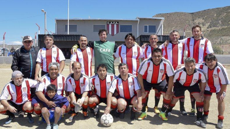 El equipo de Ameghino de la categoría Master.
