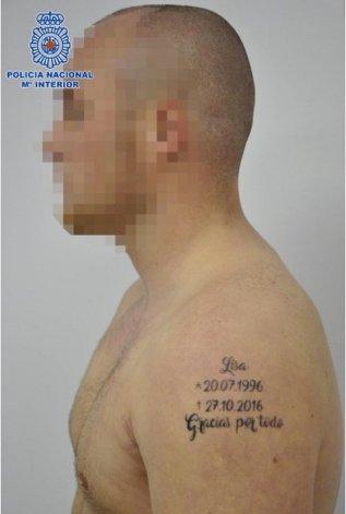 Detienen a presunto femicida identificado por tatuarse la fecha del crimen