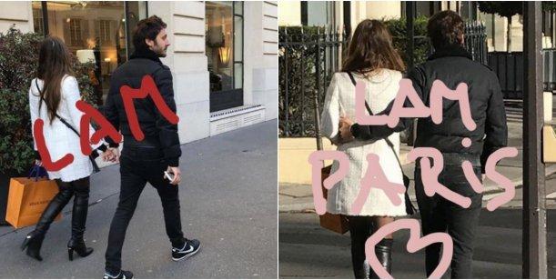 La China Suárez y Benjamín Vicuña, de paseo en París