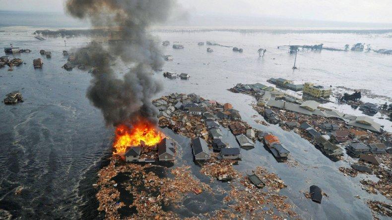 Foto del tsunami devastador del 2011.