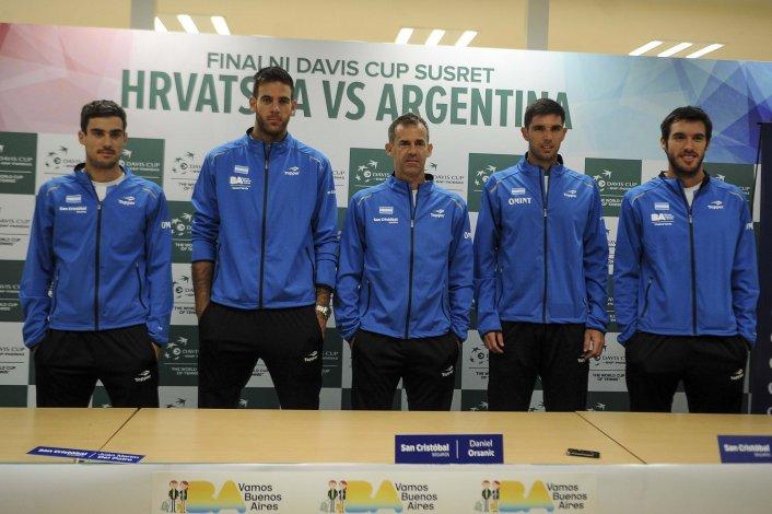 El equipo argentino de Copa Davis brindó una conferencia de prensa de cara al duelo ante Croacia.
