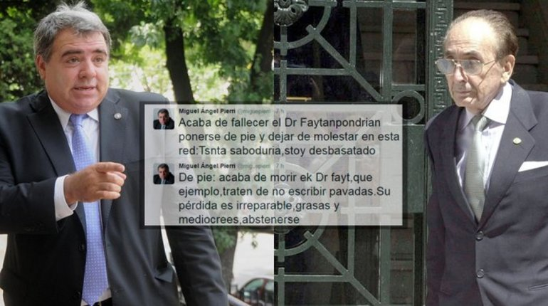 Furor en Twitter por el fallido homenaje de Pierri a Fayt