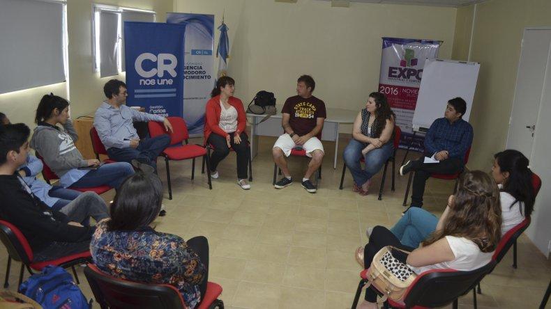 Una de las actividades que ayer clausuraron la Pre Expo fue un encuentro de emprendedores.