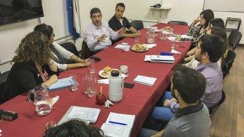 El encuentro de coordinación realizado en el Concejo Deliberante.