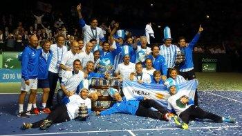 argentina es campeon de la copa davis por primera vez en la historia