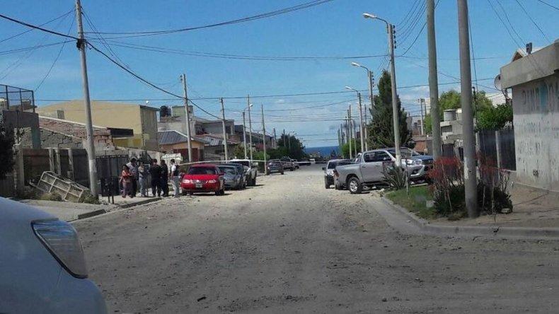 En este lugar se habría producido el ataque que le costó la vida al joven de 19 años. Calle Carlos Gardel.