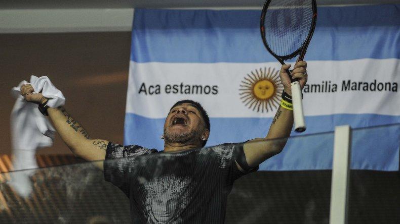 Diego Maradona había anticipado que la Copa Davis se venía a casa.