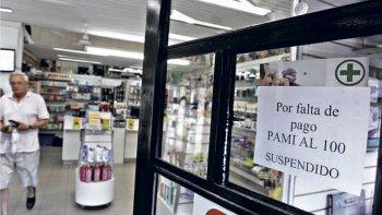 Las farmacias mañana no realizarán descuentos por medicamentos a los afiliados de PAMI.