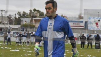 Martín Tula, arquero de Jorge Newbery que el domingo visitará a Germinal de Rawson.