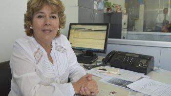 La jefa de Agencia de PAMI en Caleta Olivia, Nieves Beroiza.
