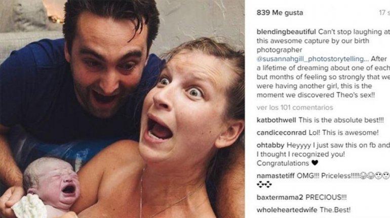 En pleno parto se enteró del sexo de su bebé y se volvió loca