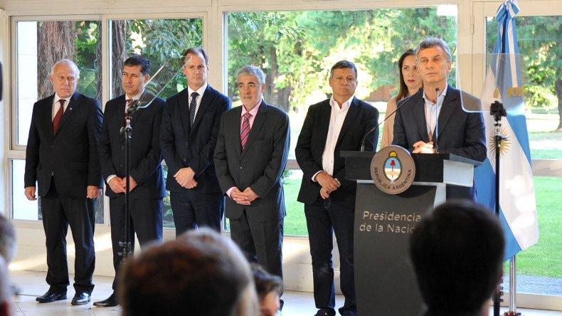 Das Neves participó junto a Macri del anuncio del Compromiso Social contra las Adicciones