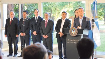 El gobernador Mario Das Neves participó ayer del anuncio que Macri realizó sobre la lucha contra las drogas y adicciones.