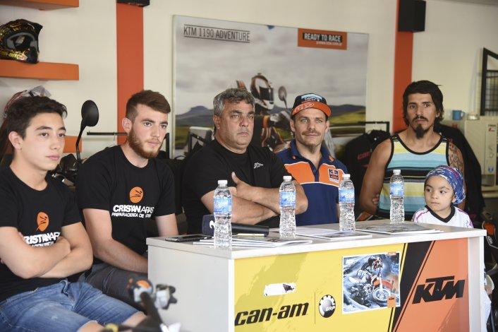 Ayer se realizó la presentación del cierre de la temporada de motocross.