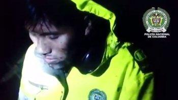 el dramatico video del rescate de un sobreviviente