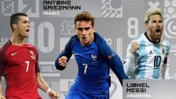 messi, cristiano y griezmann, los nominados al mejor jugador del ano