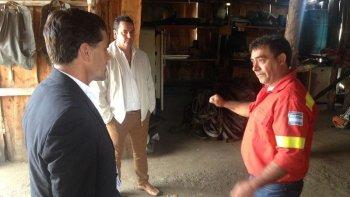 Vamos a seguir acompañando a los brigadistas y a cada sector de Chubut con hechos, dijo el ministro Hernán Alonso.