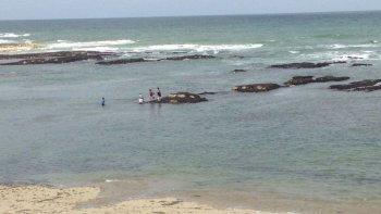no podian volver a la costa, un policia logro rescatarlos