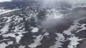 el volcan hudson sigue en alerta amarilla