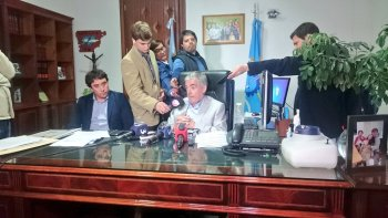 Das Neves hoy en conferencia de prensa.