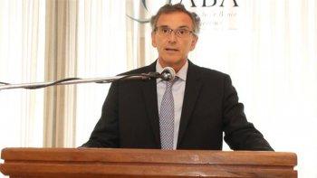 El presidente de la Asociación de Bancos de la Argentina (ABA), Claudio Cesario.