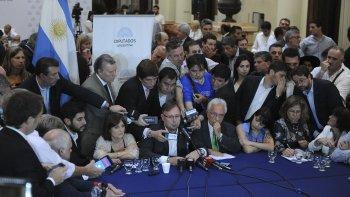Conferencia de bloques opositores por el tema Ganancias.